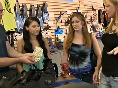 sexy women flashed beautiful tits in exchange for money