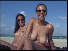 scorching chicks naked on the beach
