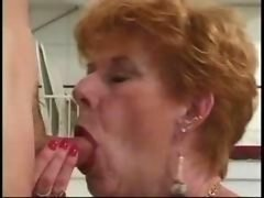 Classic Granny Diane Richards banged in kitchen
