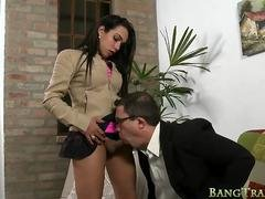 Sultry busty tranny gets her asshole fucked by doctor
