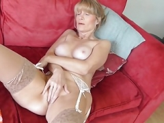 Grown-up British housewife Jane with hungry twat