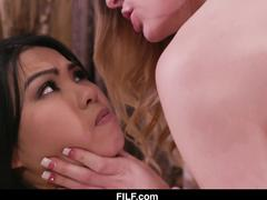 FILF - Bisex bitch Cindy Starfall forces Asian step sister to lesbian sex