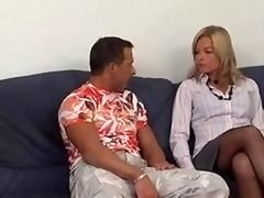Anal Blonde Eager mom In Stockings Fu...