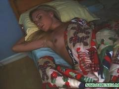 Sneaking into stepsisters room for a surprise blowjob