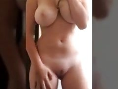 Beautiful blonde striptease and masturbating compilation