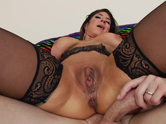 Slutty MILF takes pleasure in anal sex with handy Mark Wood's cock