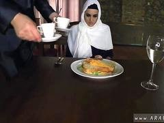 Arab my sister Hungry Woman Gets Food and Fuck