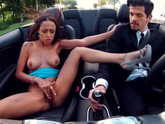 Fucking a gold digger on the hood of his expensive car