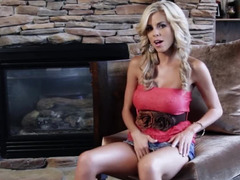 Ravishing blonde pleases herself with a sex toy