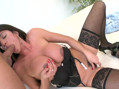 Making doggystyle love to the slutty milf chick in stockings