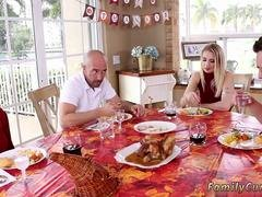 My associates step daughter tossed salad Spanksgiving With The Family