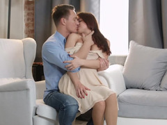 Red-haired beauty spends free time with her BF