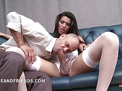 Hot shemale fucks and get fucked by lucky guy