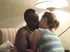Dark-Hued bull pulverizes amp cuckold husband cleans super inexperienced