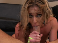 A tight and sweet little bimbo gets her ass penetrated on the floor
