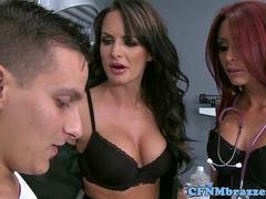 CFNM army femdoms deepthroat and doggystyle