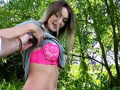 Big boobs Czech babe railed in the woods
