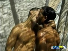 Surfer Dudes Cock Sucking In The Shower