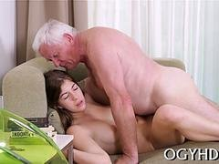 pretty  gal fucked by old guy movie movie 1