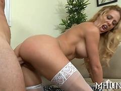 adorable milf is hammered hard video