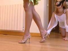 Lesbo scene with Sophie and Katalin