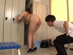 beautiful woman teacher writhes in high leg d feature segment 2
