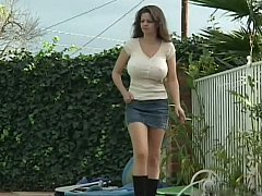Busty step-mom fucking her son