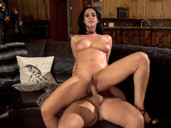 Super excited brunette dame gets bonked in variable positions