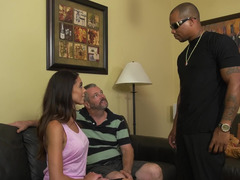 Impotent cuckold watches his hotwife fuck a big black cock