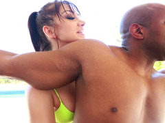 Fit ass babe Lea Lexis ass fucked by a black dude