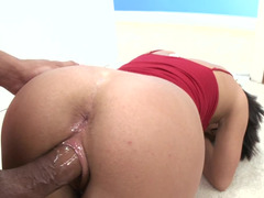 A big dick is getting shoved inside a tight shaved 18 year old