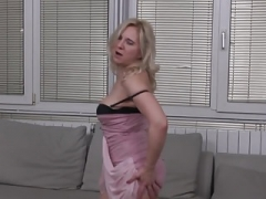 Aged mom Alma with saggy breasts and plus hungry aged cunt
