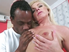 Bigtits granny screwed by black cock