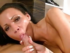 GERMAN EBONY Non-professional TEEN CUM IN MOUTH COMPILATION