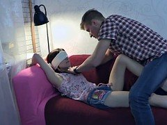 Restrained exgf assfucked doggystyle