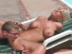 Huge boob milf has an intercourse youthful