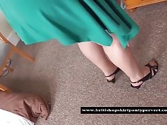 The British Panty Pervert gets up Aunty Shirley's skirt