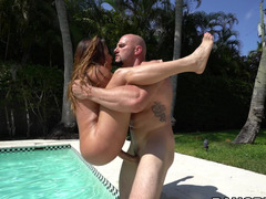 Pool fucking with a fine ass Latina lady that loves big dick