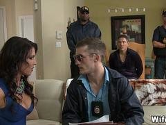 FBI Agents Fuck His Wife while HE watches