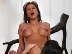 Astonishing Latina MILF gets a huge cock in her tight vagina