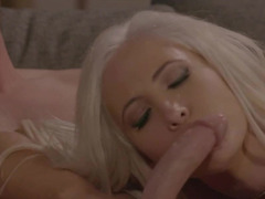 First meeting of blonde and guy ends with awesome fuck