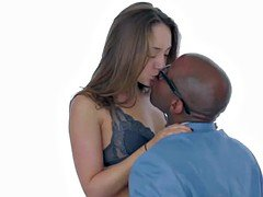 Seductive interracial babe analy pleasured