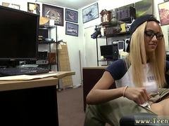 Blonde brat is ready to suck a dick in the pawnshop
