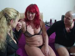 Real German Teen Couple in Female Casting for Money