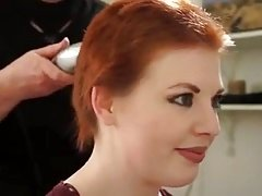 sexy redhead gets buzzed