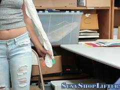 amateur shoplifter jizzed teen