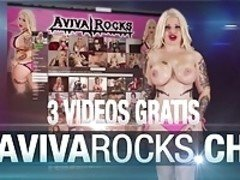 Aviva Rocks swiss-girl big tits give blowjob and get fucked!