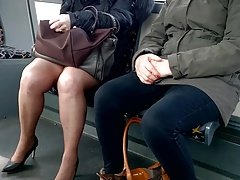 Mature Milf with high heels and nylons