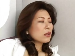 Japanese eager mom Jerking off on the subway