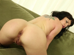 A brunette gets cumshot in her tight pussy as she rides a dick